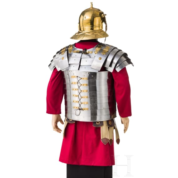 An armour of a Roman legionary soldier