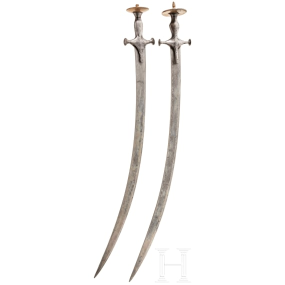 Two Indian tulwars, 19th century