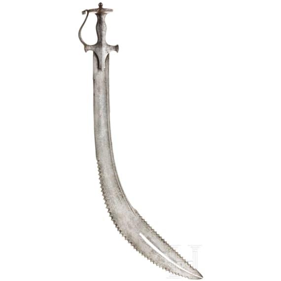 An Indian Thega with a Zulfikar blade, 19th century