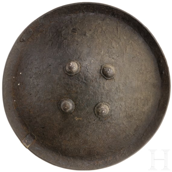 An Indian leather shield, 19th century