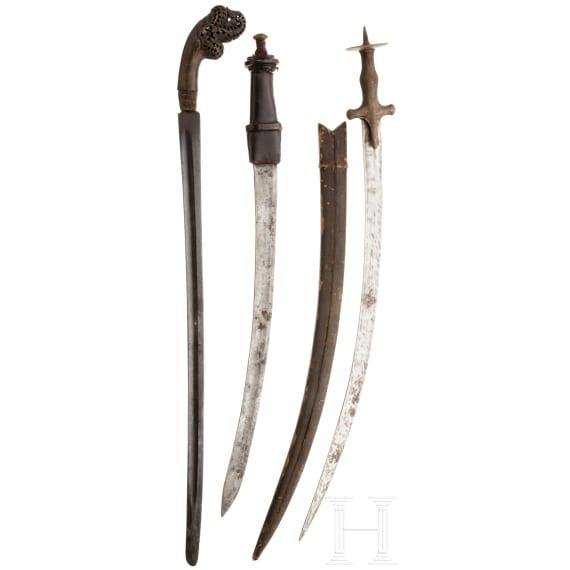 Three Oriental edged weapons, 19th/20th century