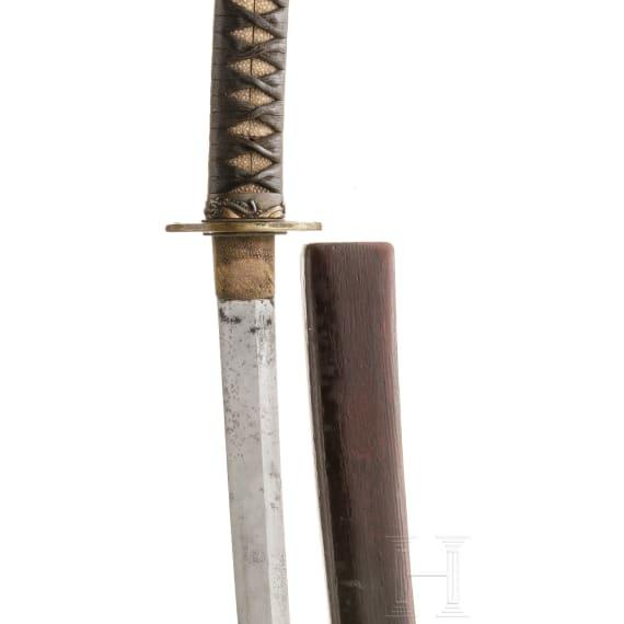 A Japanese Katana with a blade from circa 1480