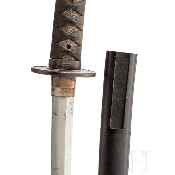 A Japanese wakizashi, circa 1750