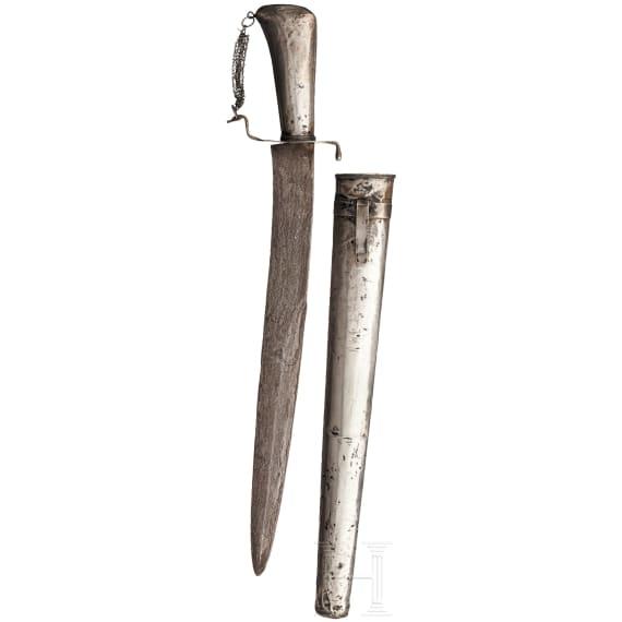 Silbermontiertes Pedang, Java um 1900