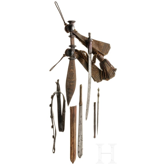 Four Northwest African edged weapons, 19th century