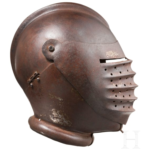 Geschlossener Maximilianischer Helm, Sammleranfertigung im Stil des 16. Jhdts.