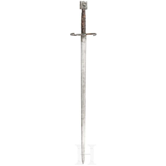 Schwert zu Anderthalbhand, Sammleranfertigung im venezianischen Stil, 19. Jhdt.