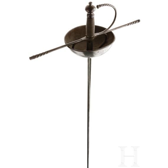A Spanish cup hilt rapier, circa 1650