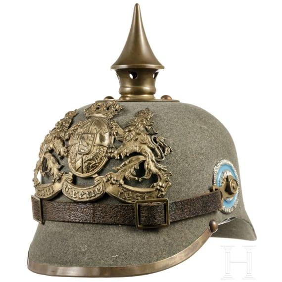 A Bavarian Ersatz helmet M 1915 for enlisted men of the infantry