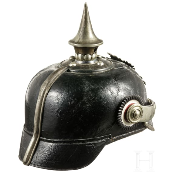 A helmet for cadets in the Kingdom of Saxony, circa 1910