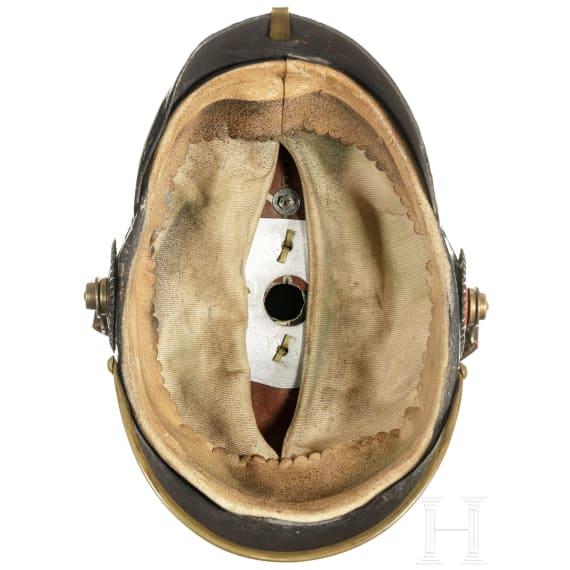 A helmet for enlisted men of the Württemberg infantry, circa 1910