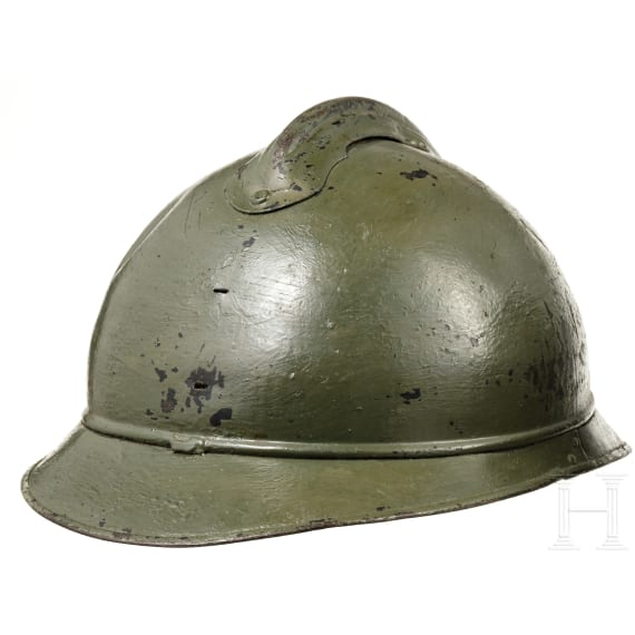 Two French steel helmets M 15 Adrian, circa 1915 - 1918