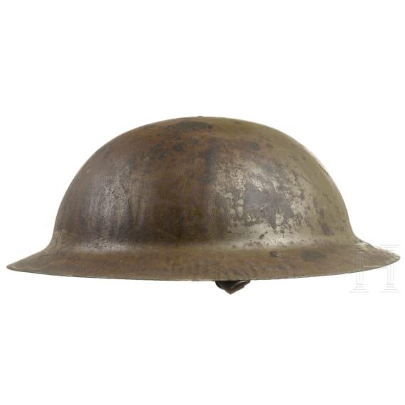 A British steel helmet Mk I Brodie, circa 1915