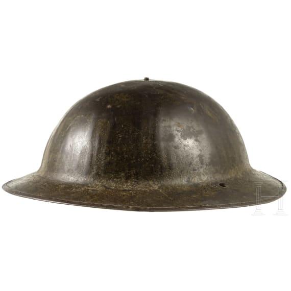 A British steel helmet Mk I, circa 1917
