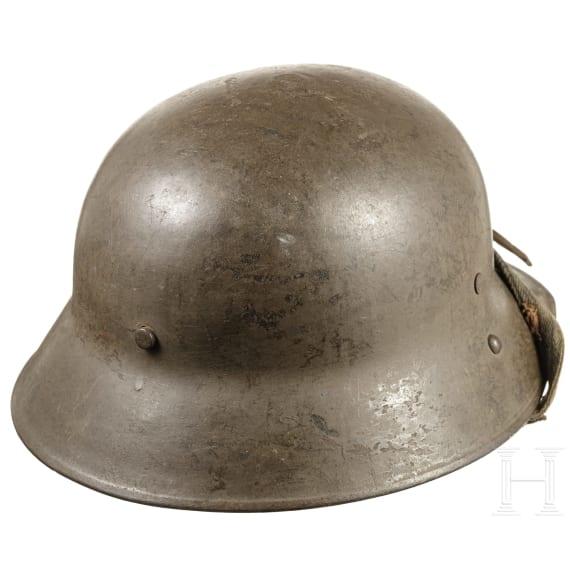 An Austrian steel helmet model Berndorfer, modified, circa 1918