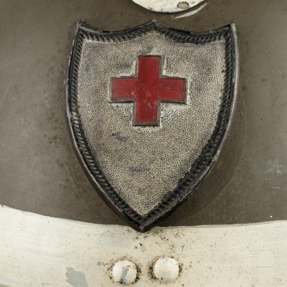 A Belgian Red Cross steel helmet M 31, 1930s - 1940s