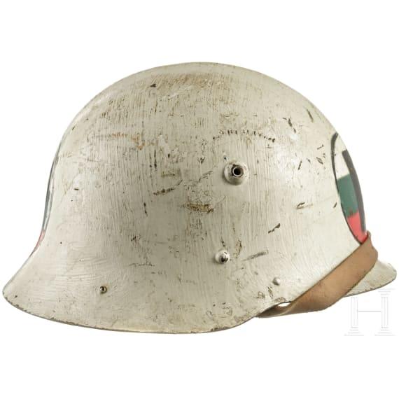 A Bulgarian steel helmet M 36 of the police, 1939 - 1945