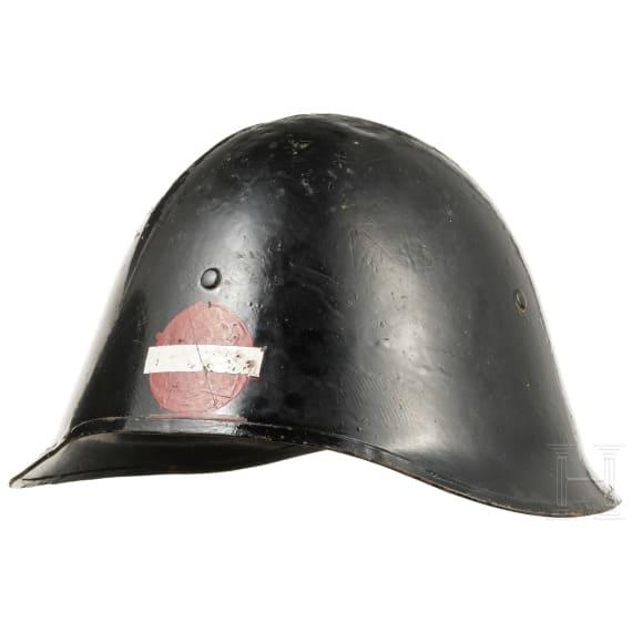 Two Danish steel helmets, 1940s