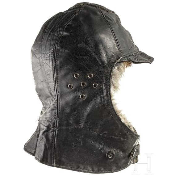A German leather cap of the Kriegsmarine, 1940s