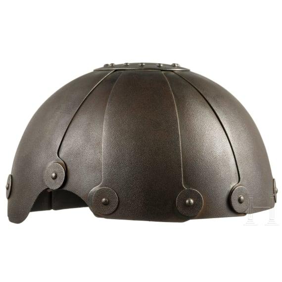 A German calotte of the SSK90 flying helmet, 1942