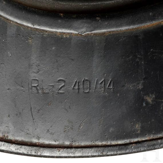 A German steel helmet M 38 for air-raid protection, circa 1940