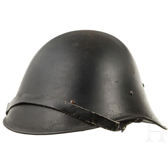 Two Dutch M 34 steel helmets, 1940s
