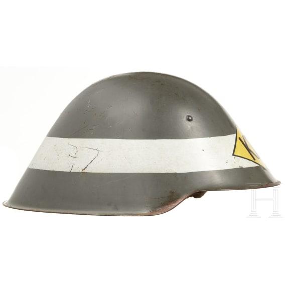 Six M 56 steel helmets, 1950s - 1980s