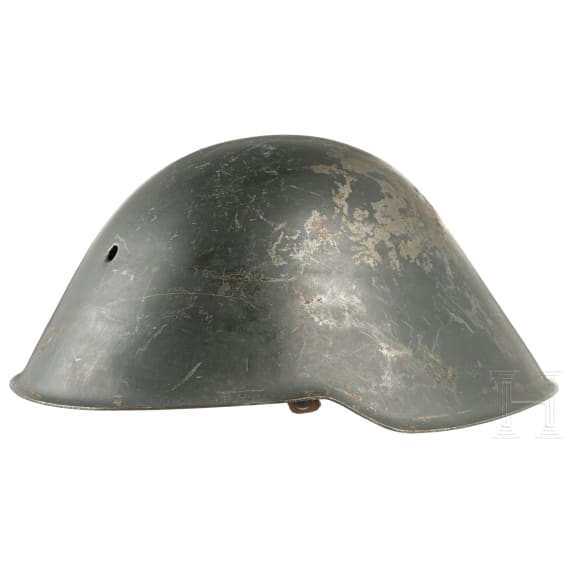 A steel helmet M 56/2, shot holes, 1970s - 1980s