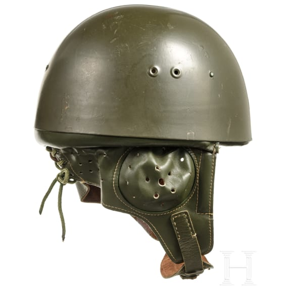 Two steel helmets M 63 (Polish) of the NVA paratroopers, 1970s - 1980s
