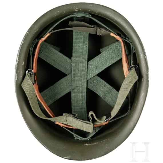 Two army helmets, 1950s - 1980s
