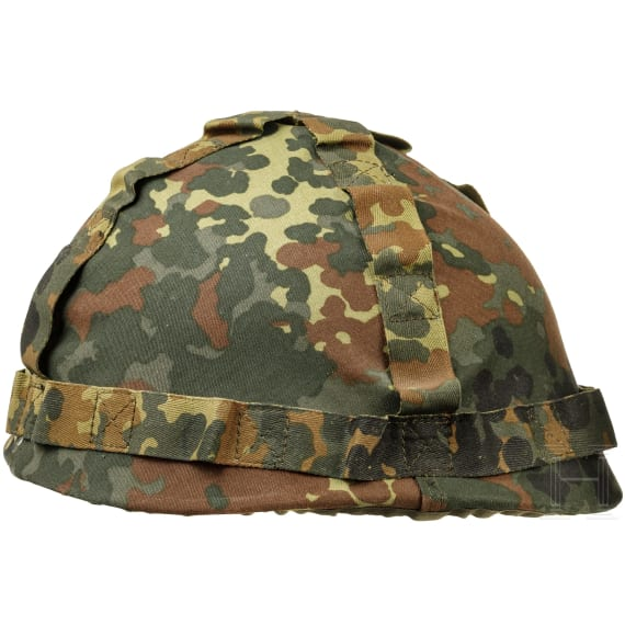 Two camouflage helmets of the Bundeswehr, 1980s - 1990s