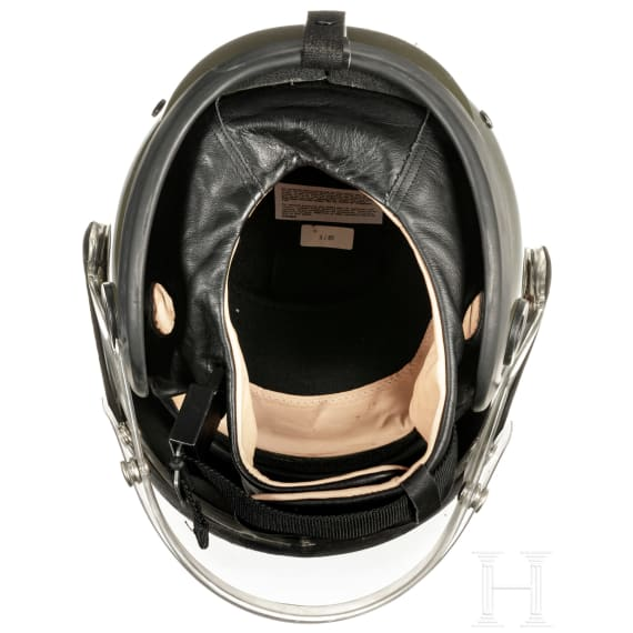 A helmet for motorcyclists and a cap for Bundeswehr tank crews, 1960-80s