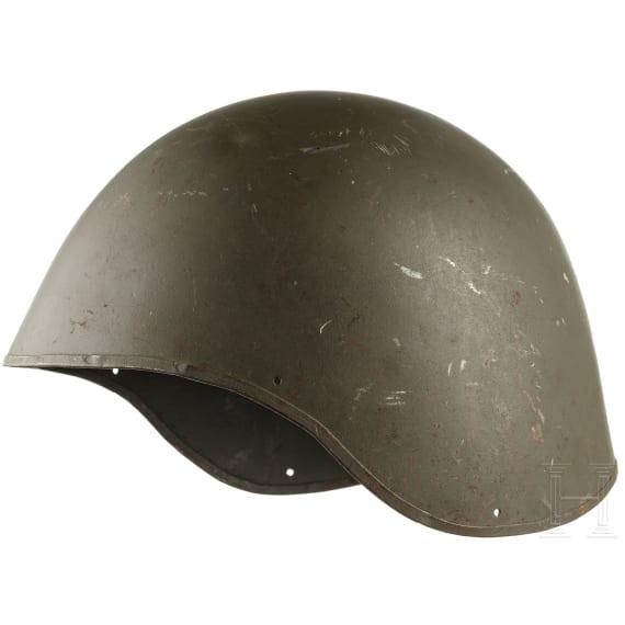 A steel helmet MK 2 Talker (USA), used by the Bundeswehr, 1960s