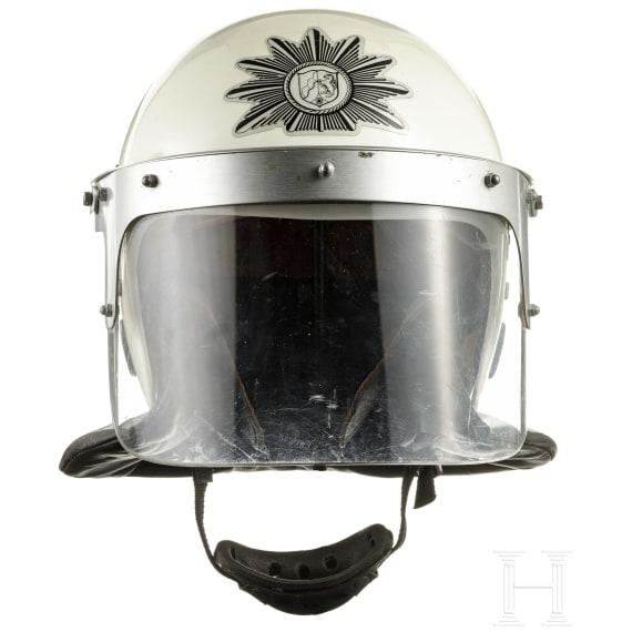 A police helmet of North Rhine-Westphalia, 1970 - 1980s