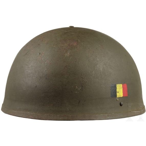 Stahlhelm für Panzertruppen/gepanzerte Fahrzeuge, Belgien, 1950er - 60er Jahre