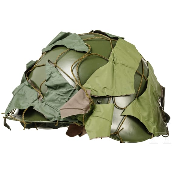 Two Hungarian camouflage helmets M 50/70, 1990s