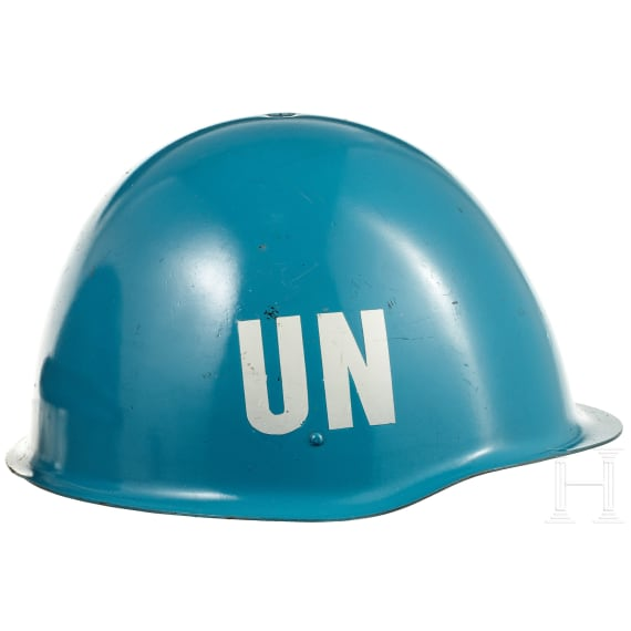 Four helmets of the UN troops, 1970s - 1990s