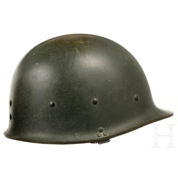Six US, FRG, Swiss and Israelite helmets, 1950s - 1990s