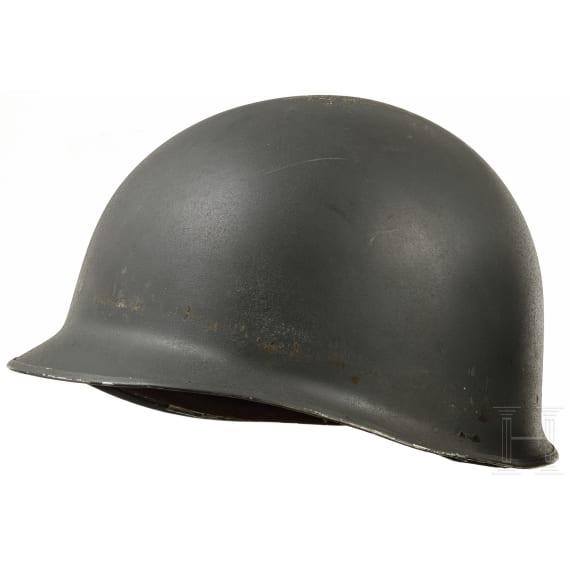 Two European steel helmets in US-style, 1970s - 1980s