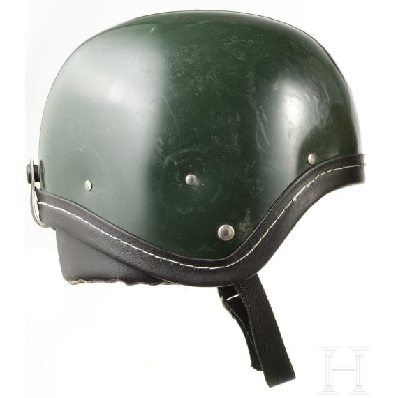 Five plastic helmets of the Warsaw Treaty states, 1970s - 1980s