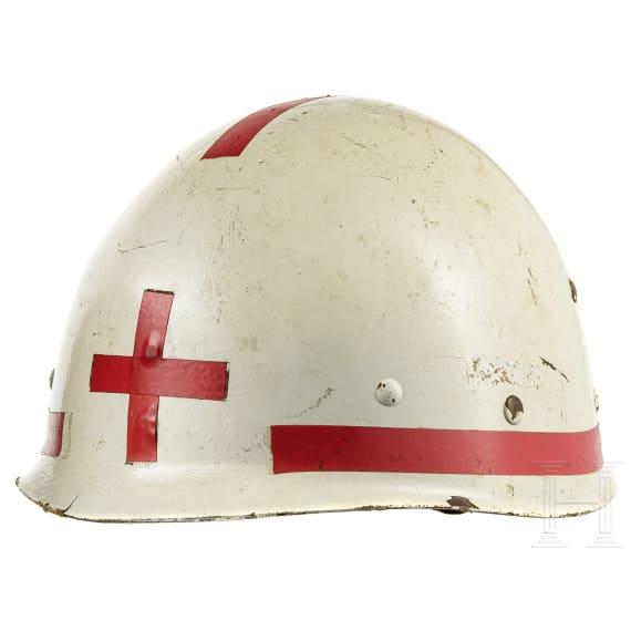 Five European helmets, 1950s - 1980s