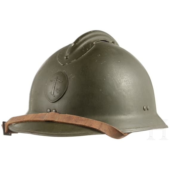 A Belgian, French or Dutch steel helmet M26 (Adrian) with crossbow emblem, 1930s - 1940s