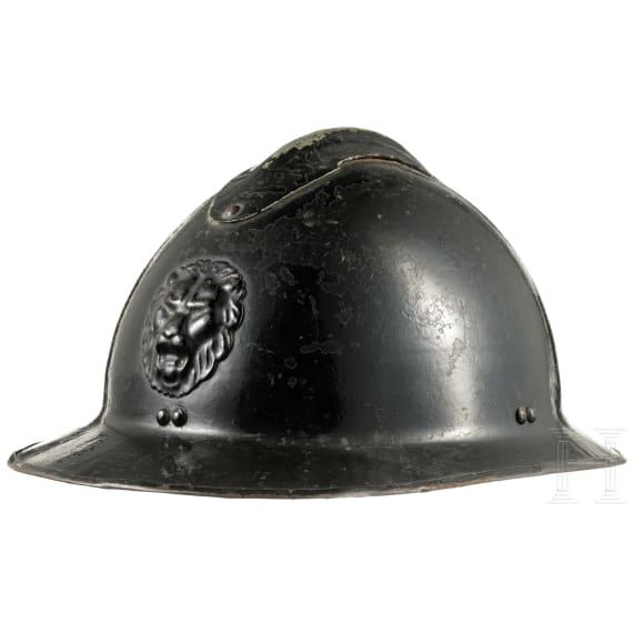 A Belgian steel helmet M 31 of the Gendarmerie, 1930s