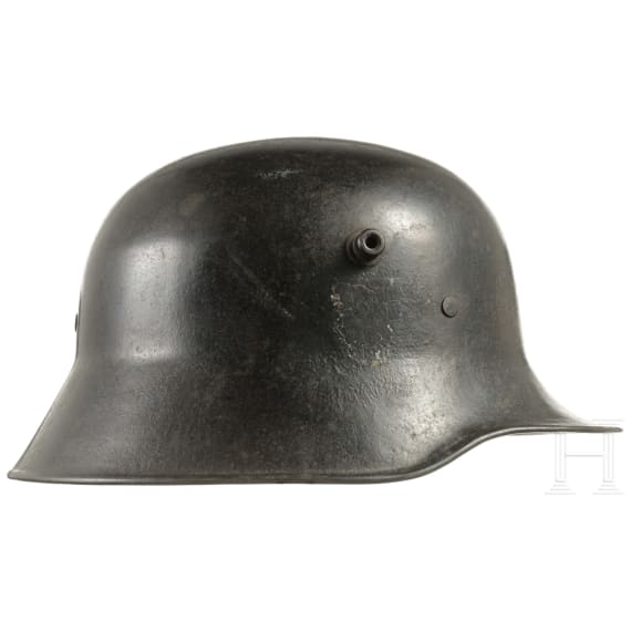 A German steel helmet M 16/18, modified for fire brigade