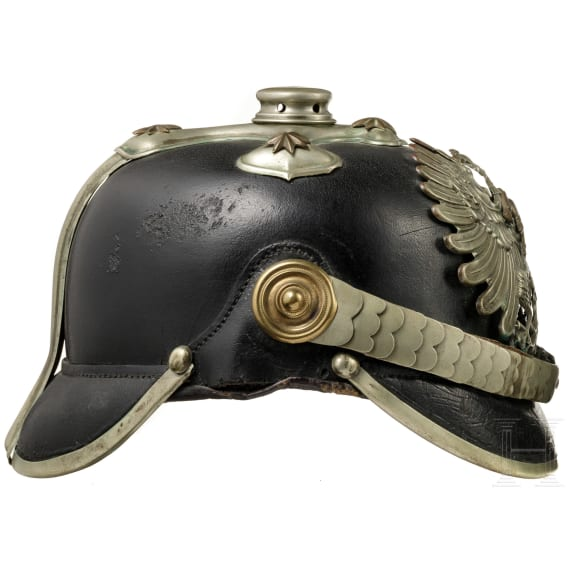 A helmet for NCOs in the Prussian State Fire Brigade Association, a helmet corpus and a belt, 1918 - 1932
