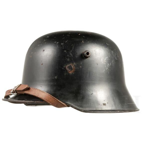A German steel helmet M 27 in SS RZM production