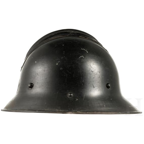 A Czech steel helmet M 30, a variant for fire brigade/civil defence, 1930s - 1940s