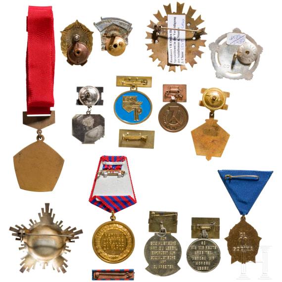 Auszeichnungen kommunistisch regierter Länder in Europa (überwiegend Rumänien), Mitte 20. Jhdt.