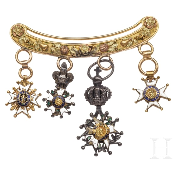 A miniature clasp with an Order of the Legion of Honour, 1815 - 1830
