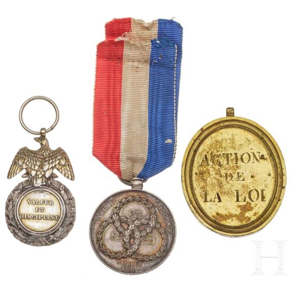 Three medals, 19th century